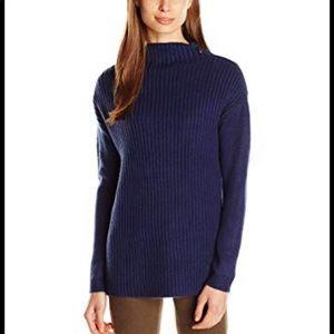 GUESS navy blue zip sweater